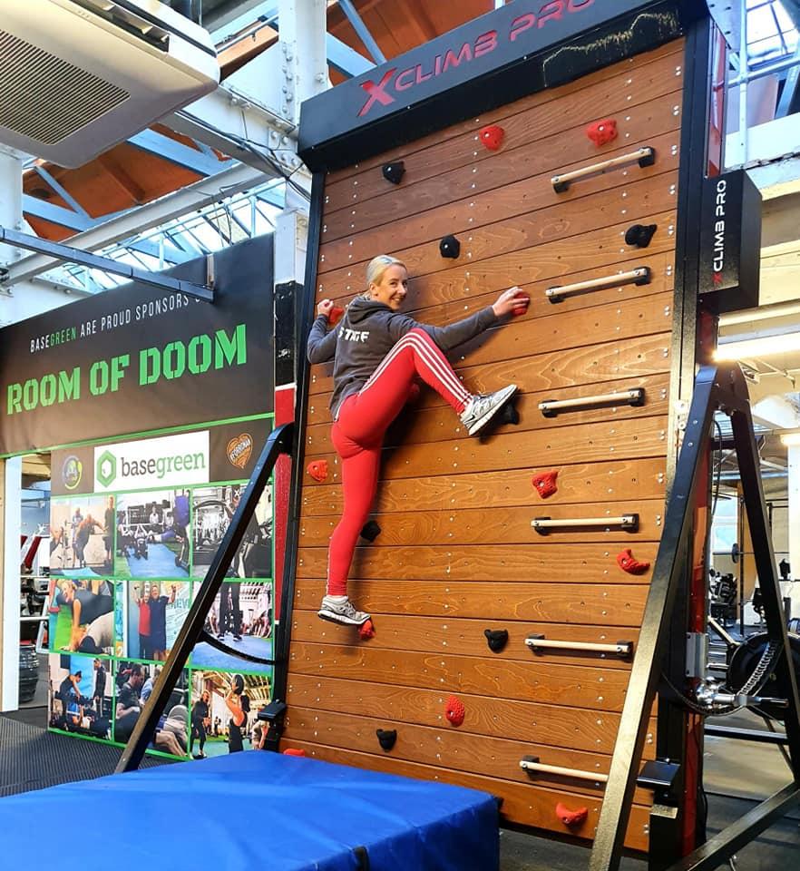 rotating climbing wall
